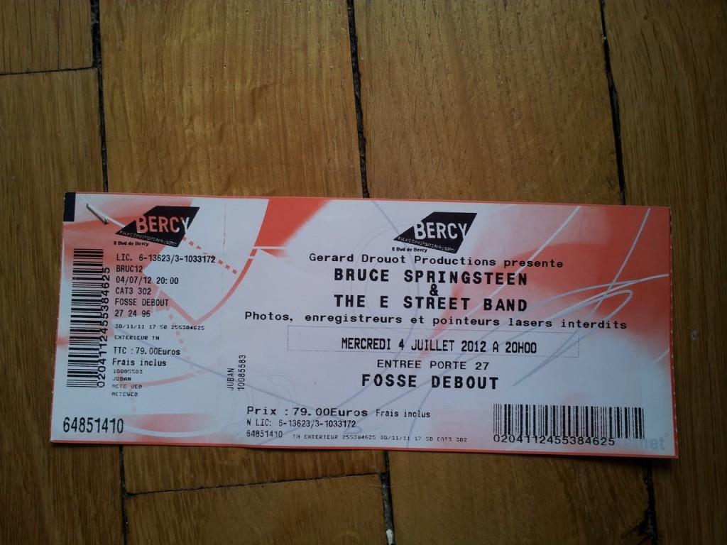 Bruce Springsteen à Bercy - 4 juillet 2012 - Wrecking Ball Tour