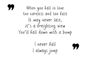 Extrait I Never Fall